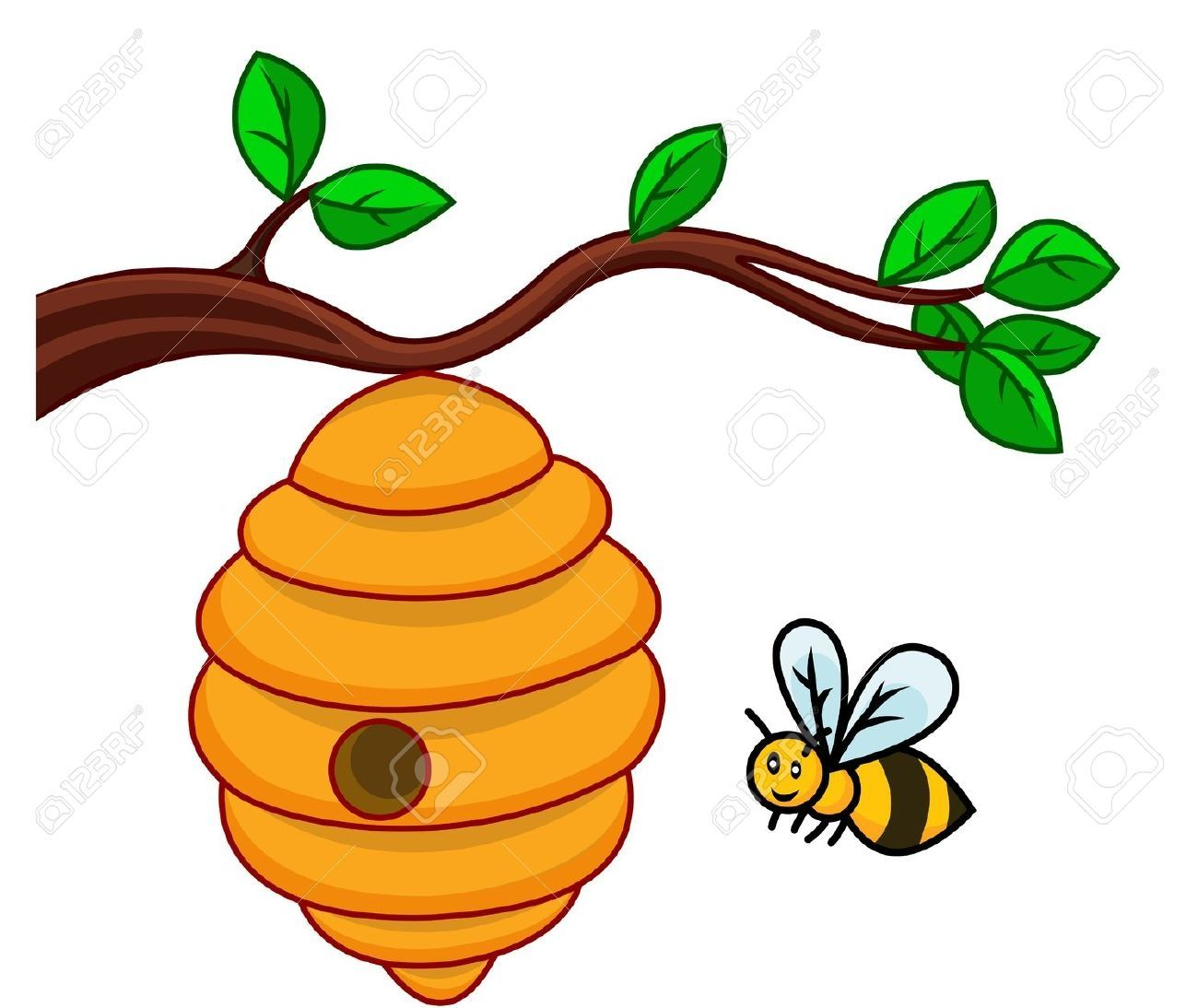 On a tree clipartsgram. Bee clipart beehive