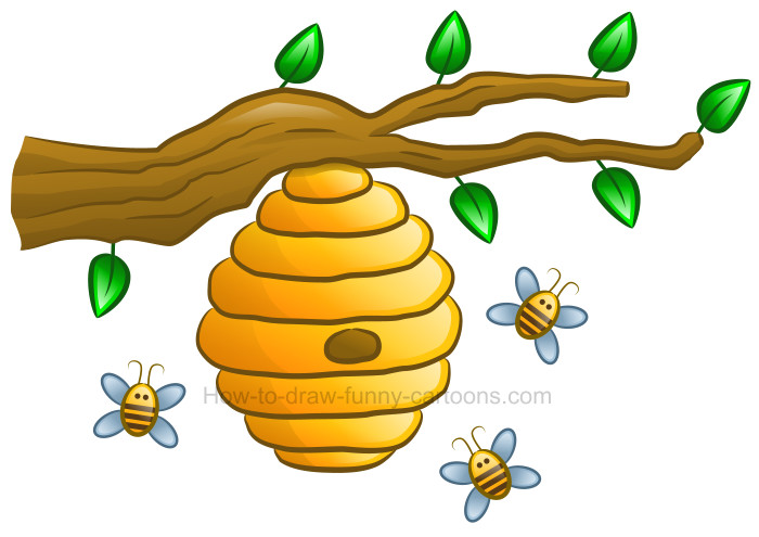 Beehive clipart. How to draw a