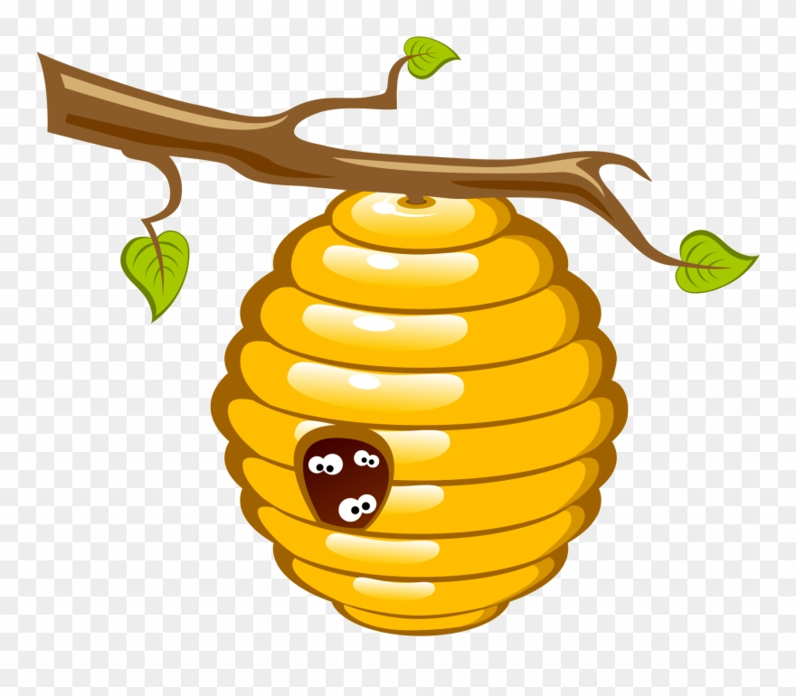 Honey bee clip art. Beehive clipart