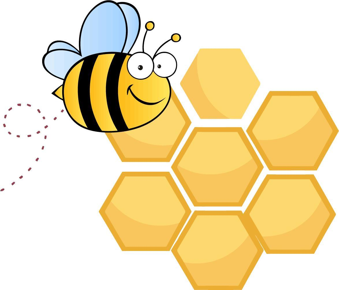 Honeycomb clipart clip art. Bee library