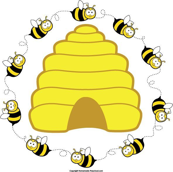 Clipart bee circle. Preschool home free beehive