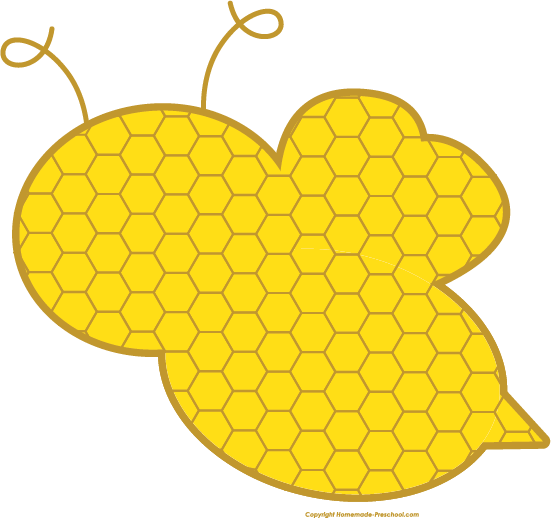 Honeycomb clipart honey comb. Free bee