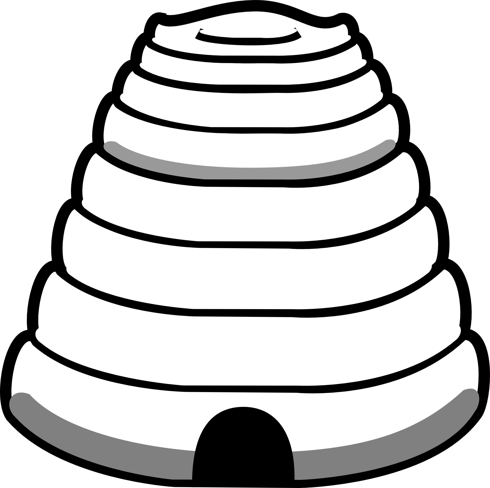 Honeycomb clipart outline. Beehive black and white
