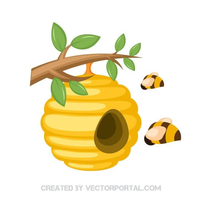 Honey clipart animal home. Bees in a beehive