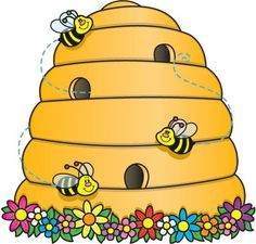 Beehive clipart cartoon. Honey bee image flying