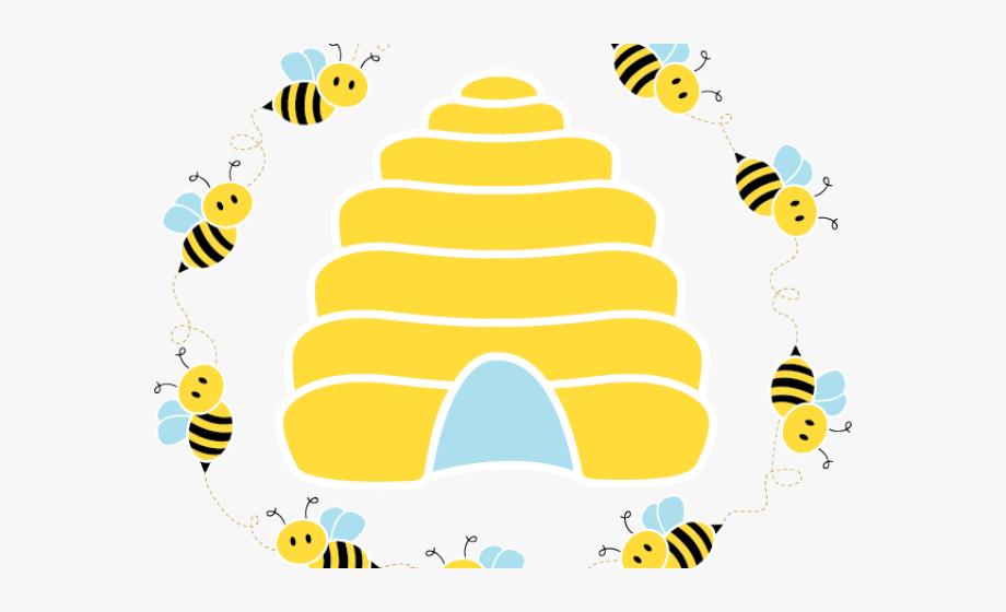 Hive class honeybee transparent. Honeycomb clipart bee nest