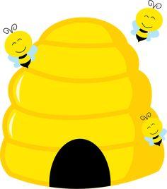 Honey bee image cartoon. Beehive clipart clip art