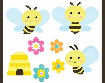 Bumblebee clipart cartoon. Baby bumble bee