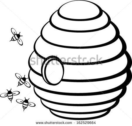 Drawing at getdrawings com. Beehive clipart drawn