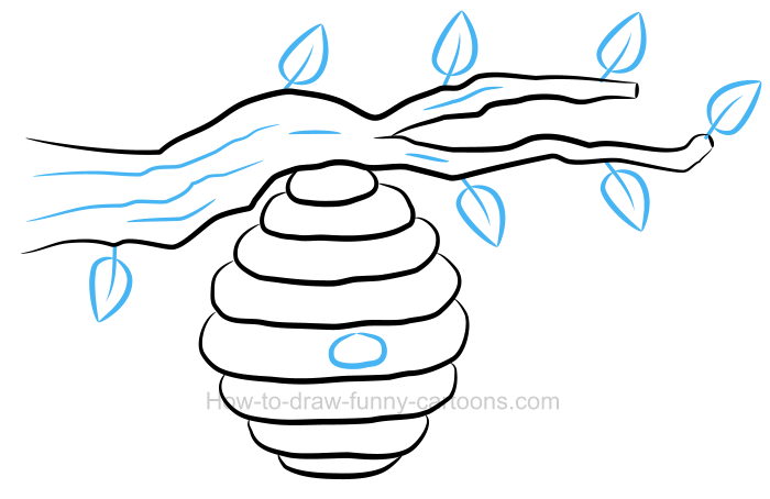 How to draw a. Beehive clipart drawn