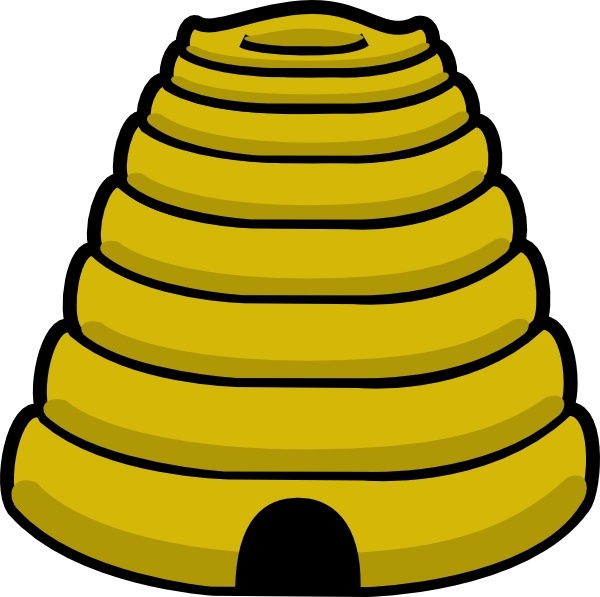 Beehive clipart drawn. Bee hive clip art