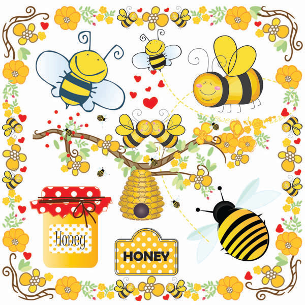 Bees clipart honey bee. Clip art bumble beehive