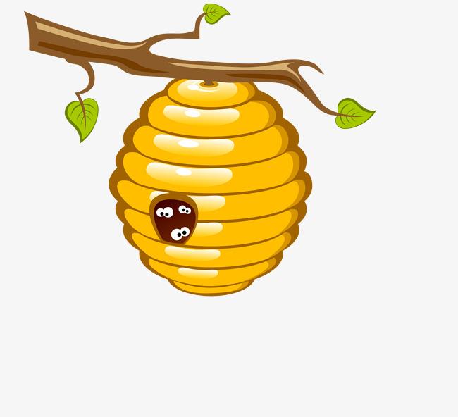 Vector bee cartoon png. Beehive clipart hornet nest