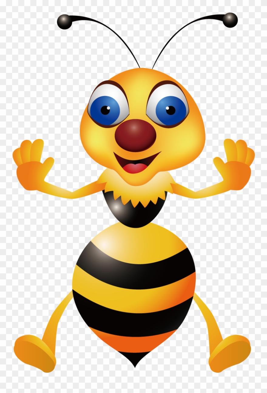Bee clip art illustration. Beehive clipart hornet nest