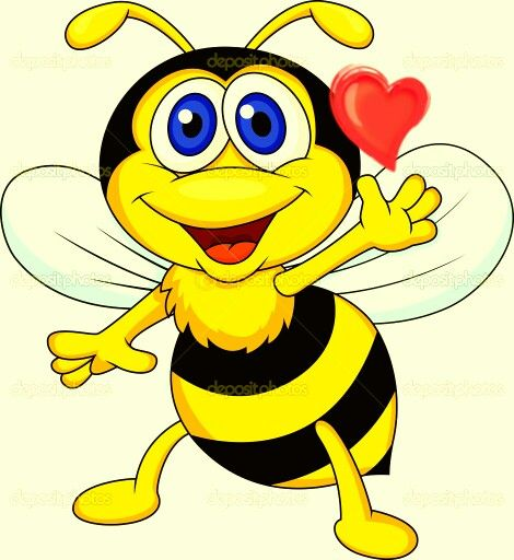 best cute bugs. Bees clipart reading