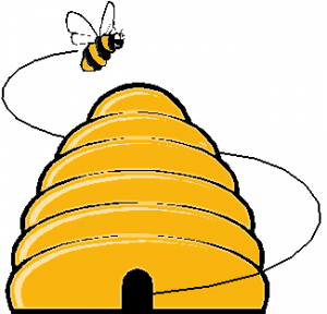 Honeycomb clipart honey bee house. Beehive hive kid clip