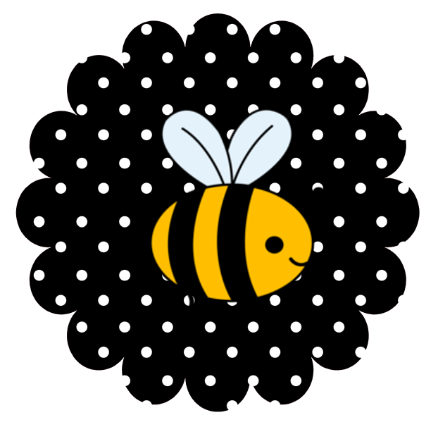 Circle clipart bee. Party theme free printables