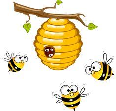 Bees clipart beehive. Honey bee image cartoon