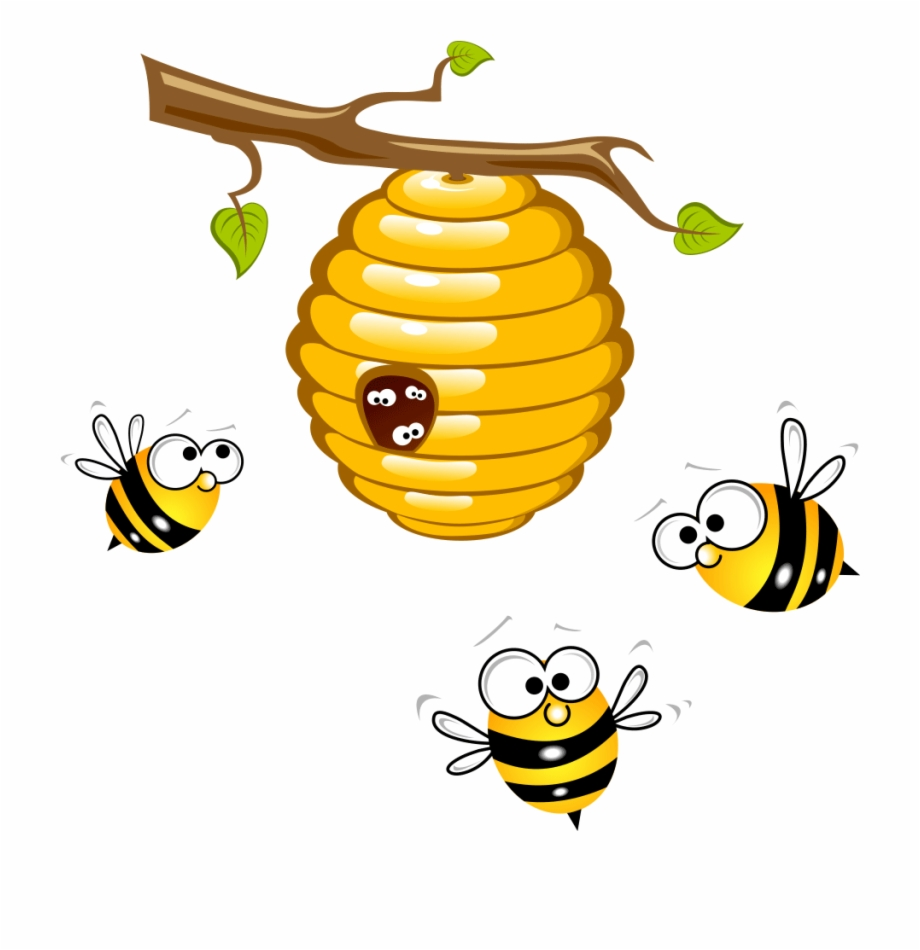Honey bee png pngtube. Beehive clipart tree clipart