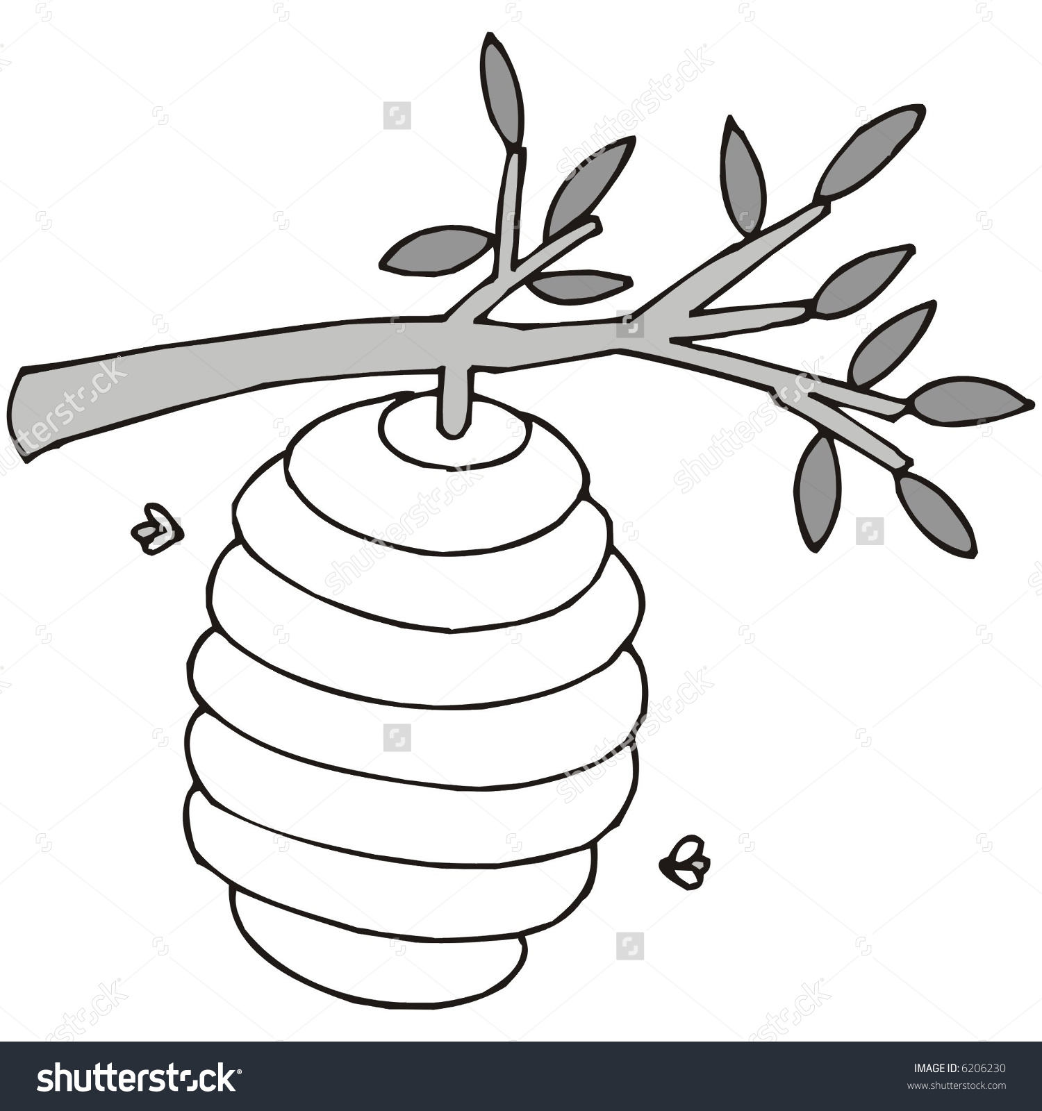 Beehive clipart tree clipart. Clip art bee hive