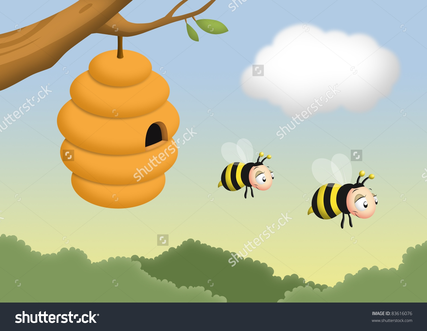 collection of on. Beehive clipart tree clipart
