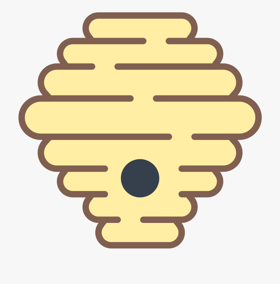 Bee hive hornets icon. Beehive clipart wasp nest