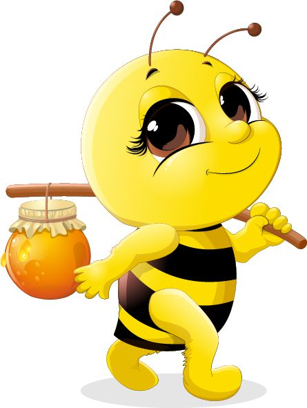 Cute honey bee related. Bees clipart adorable