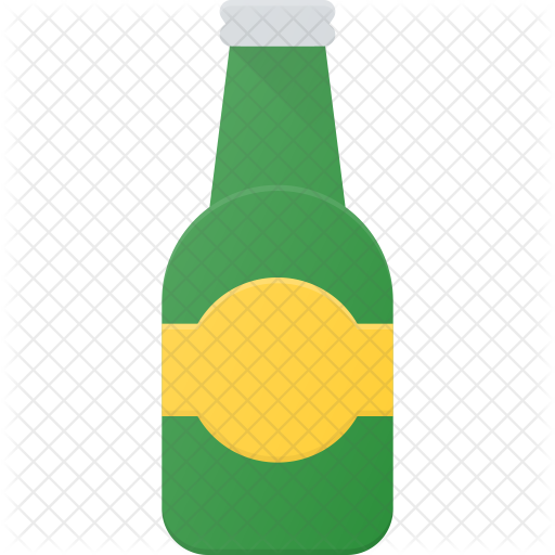 Food drinks icons in. Beer bottle icon png