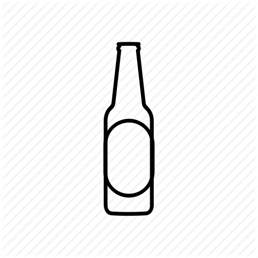 Everyday life by creative. Beer bottle icon png