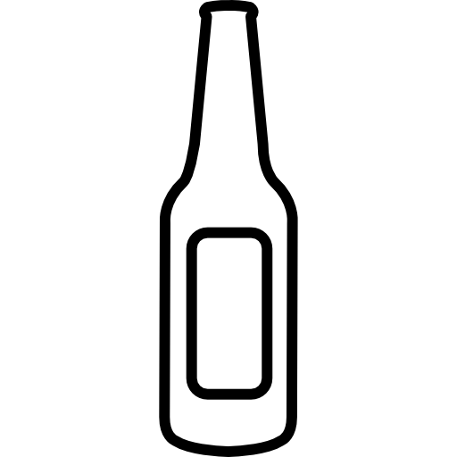 Empty free food icons. Beer bottle icon png