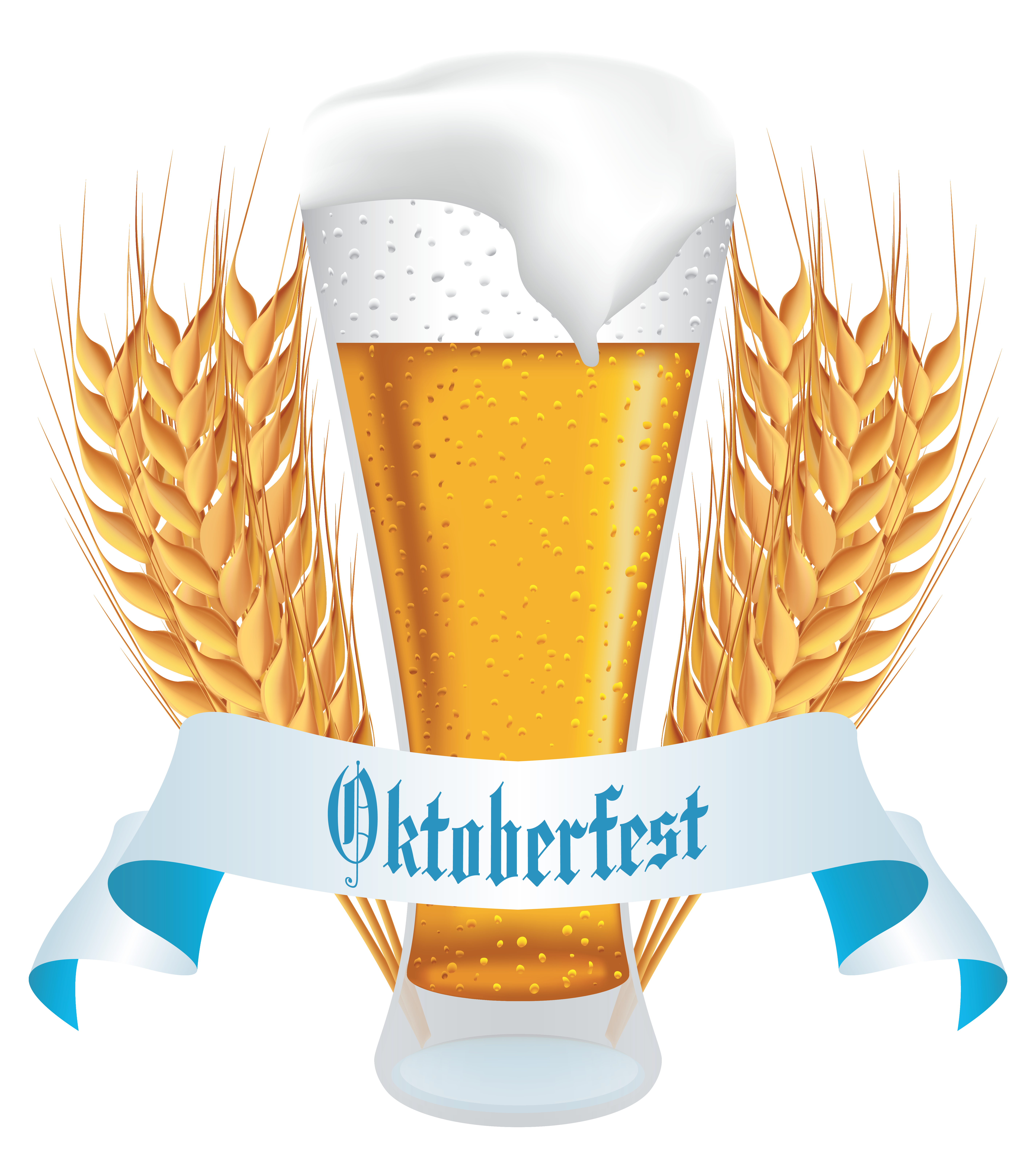 Oktoberfest with banner png. Wheat clipart beer wheat