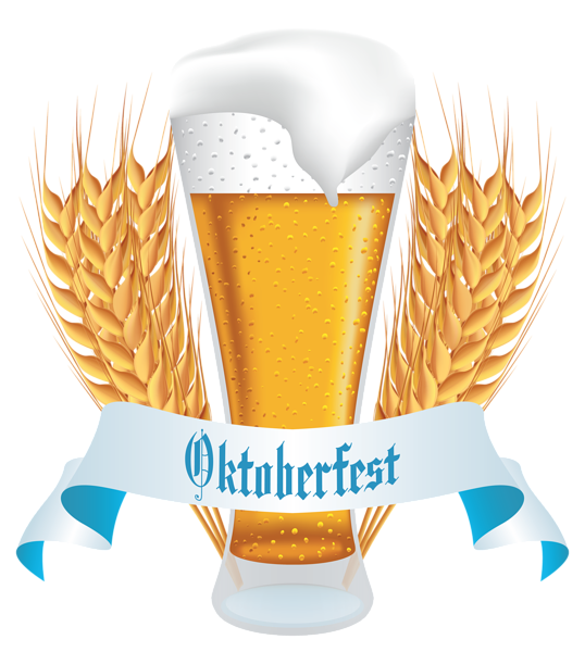 Wheat clipart logo. Oktoberfest beer with banner