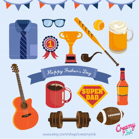 Happy father s day. Beer clipart baseball