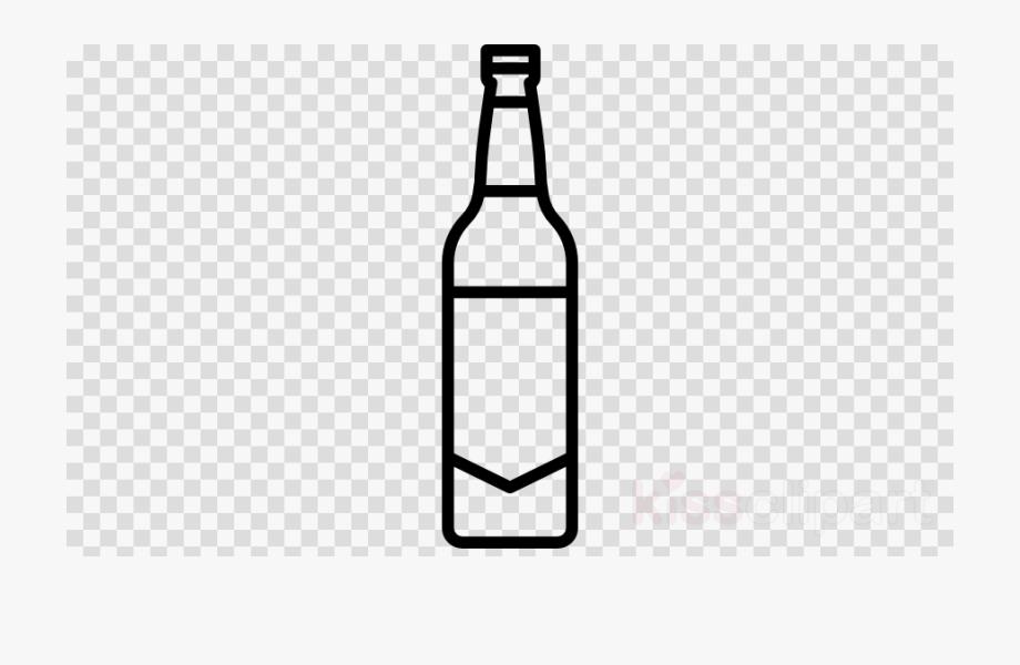 Bottle clipart beer bottle. Black and white plastic