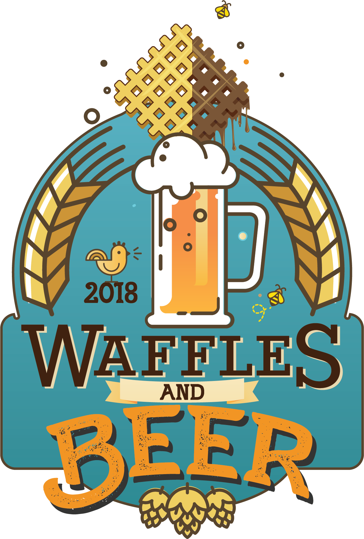 Waffles and beer festival. Waffle clipart square waffle