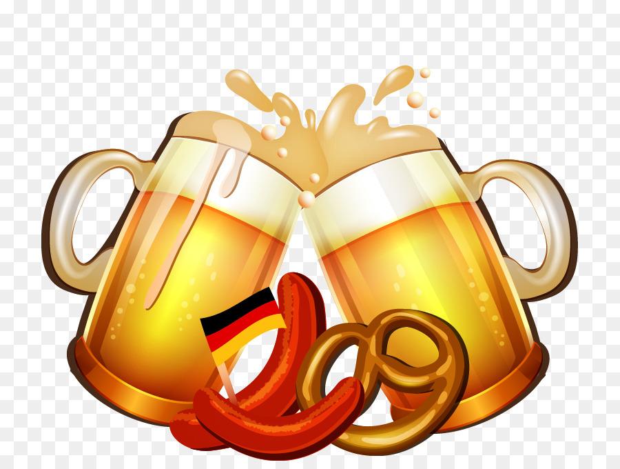 Oktoberfest cartoon mug cheers. Beer clipart beer festival