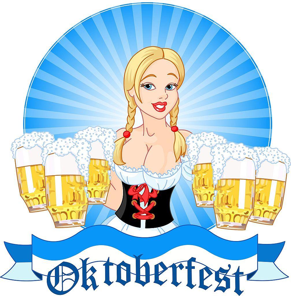 Beer clipart beer festival. German girl
