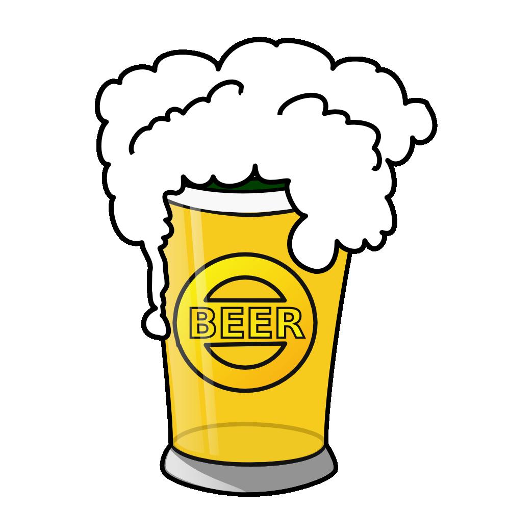 Beer clipart cartoon. Glass