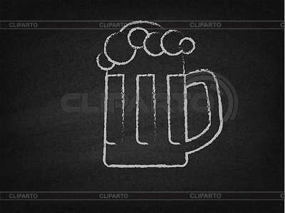 Stock photos and vektor. Beer clipart chalkboard