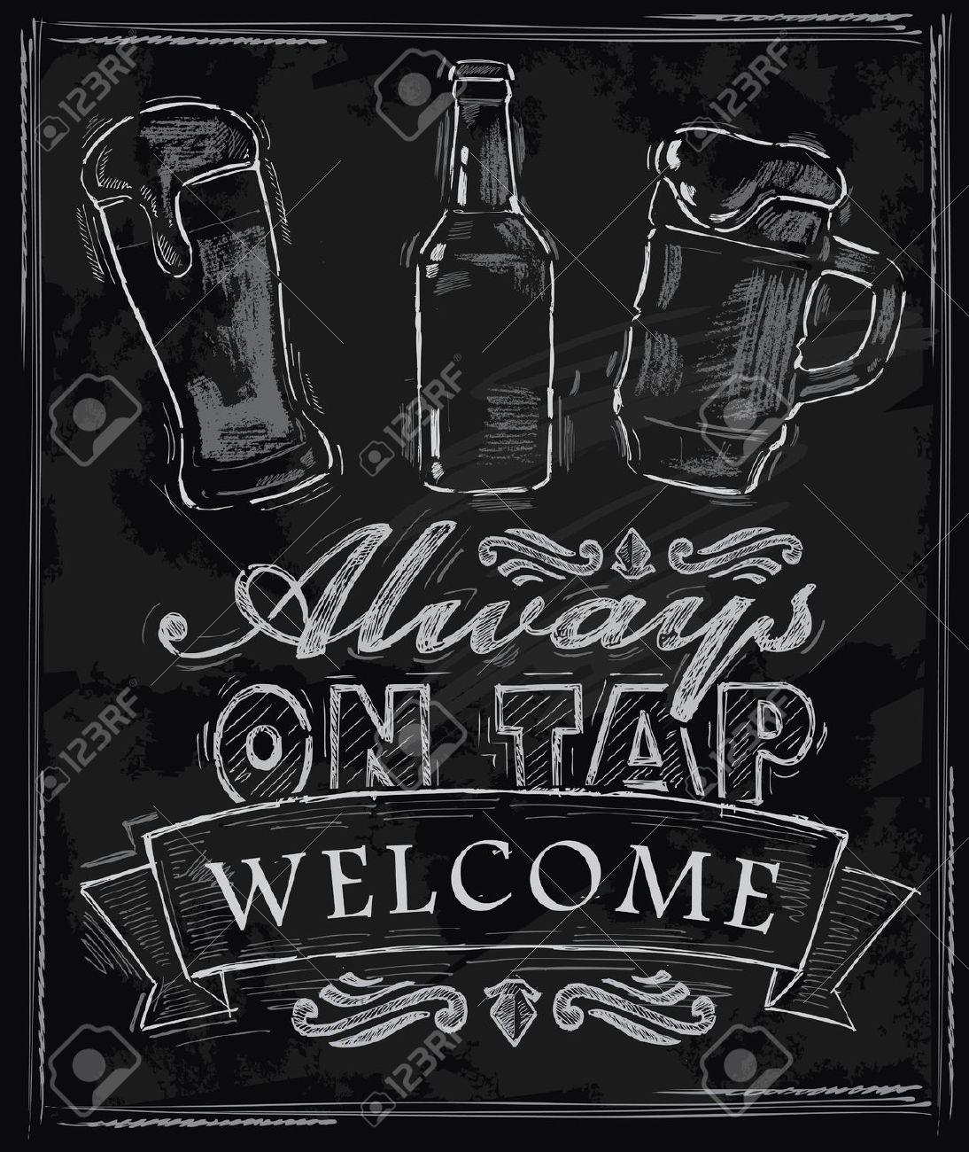 List . Beer clipart chalkboard