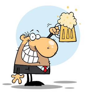 Image a funny illustration. Beer clipart clip art