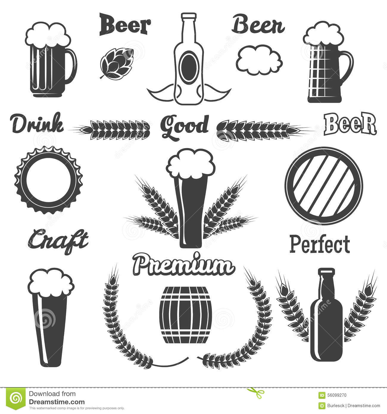Beer clipart drawing. Hop craft pencil and