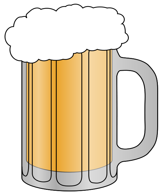 Beer . Mug clipart glass mug