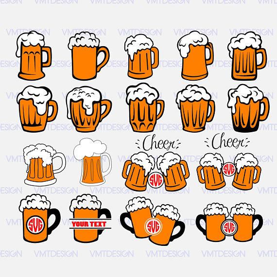 Svg mugs vector digital. Beer clipart file