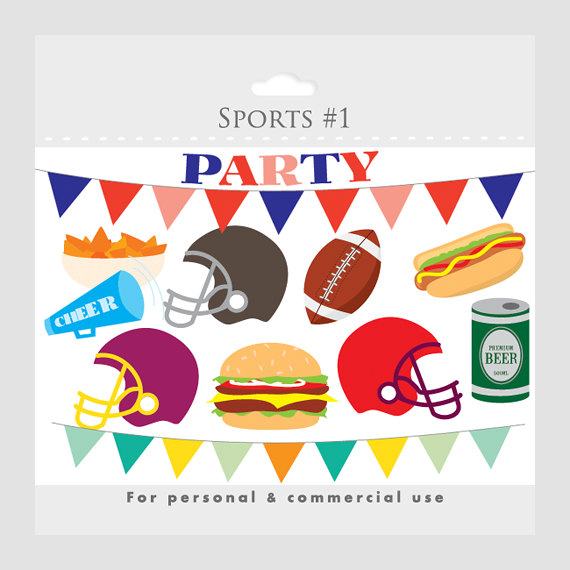 Party clip art foot. Beer clipart football