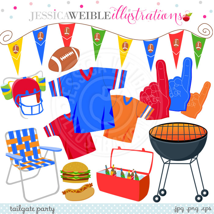 Tailgate party commercial use. Beer clipart football