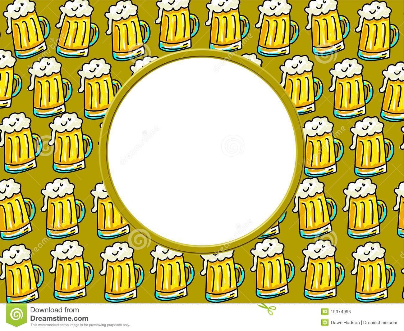 Border . Beer clipart frame