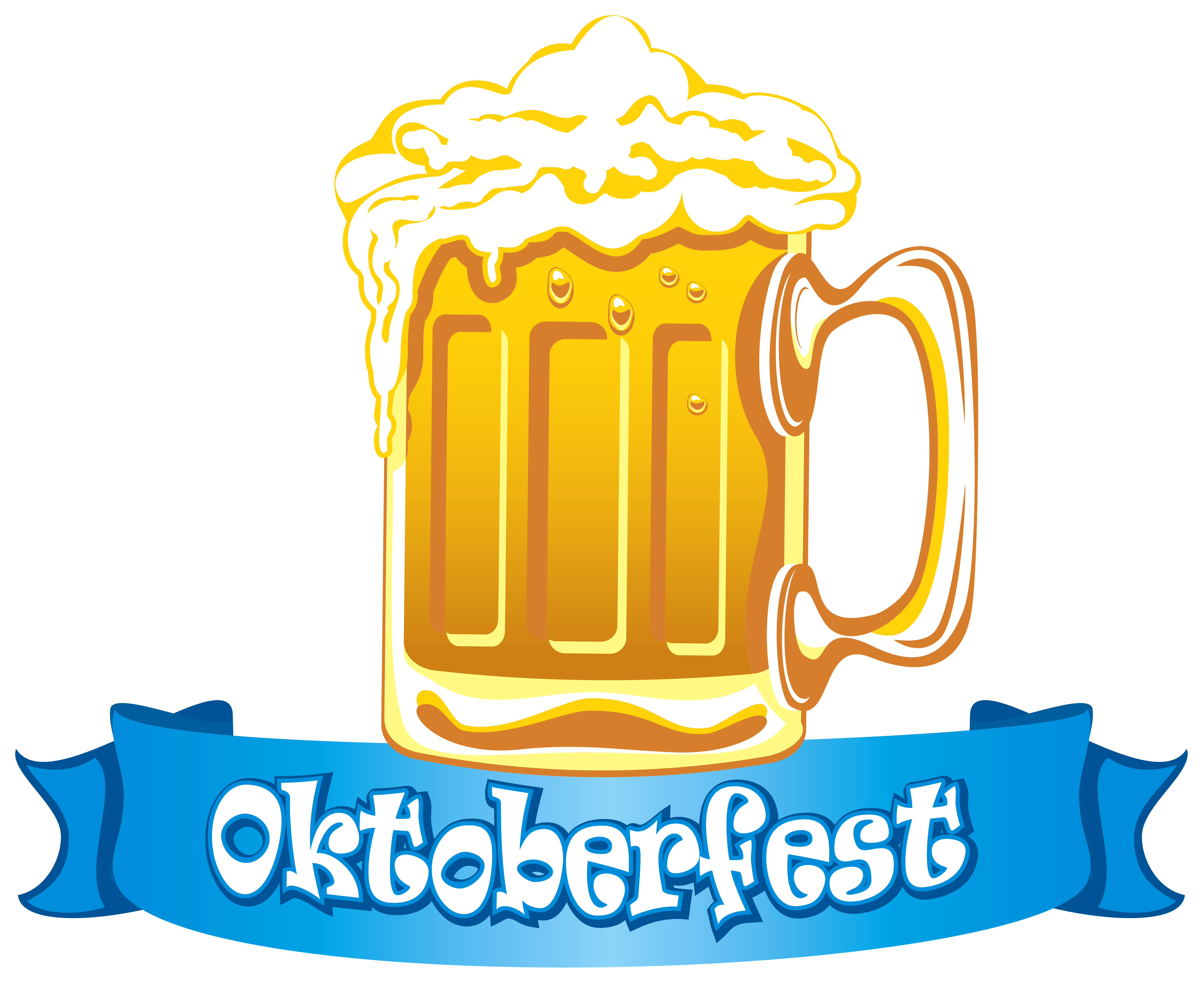 Oktoberfest banner with png. Cup clipart beer