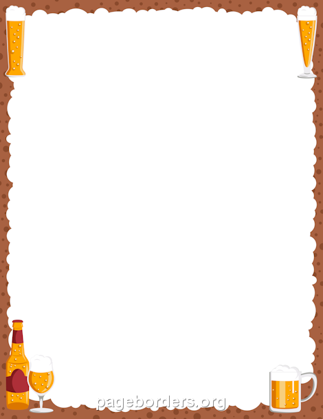 Beer clipart frame. Printable border use the
