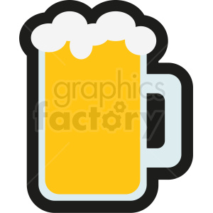 Beer clipart icon. No background royalty free